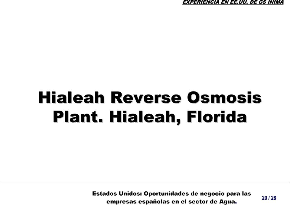 Osmosis Plant.