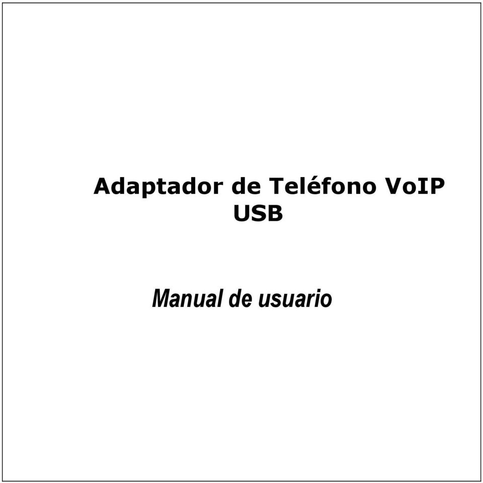 VoIP USB