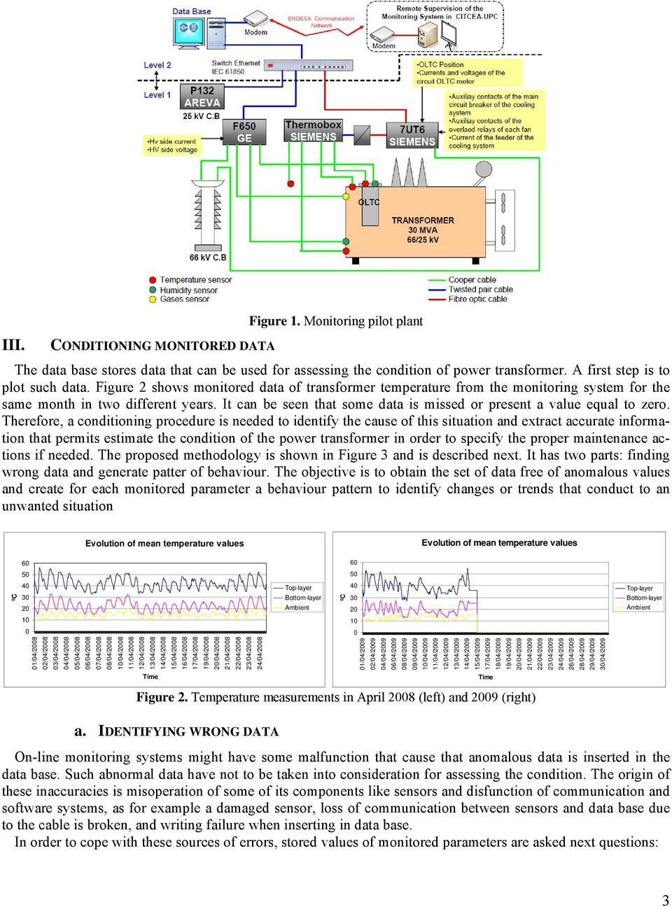 Therefore, a conditioning procedure is needed to identify the cause of this situation and extract accurate information that permits estimate the condition of the power transformer in order to specify