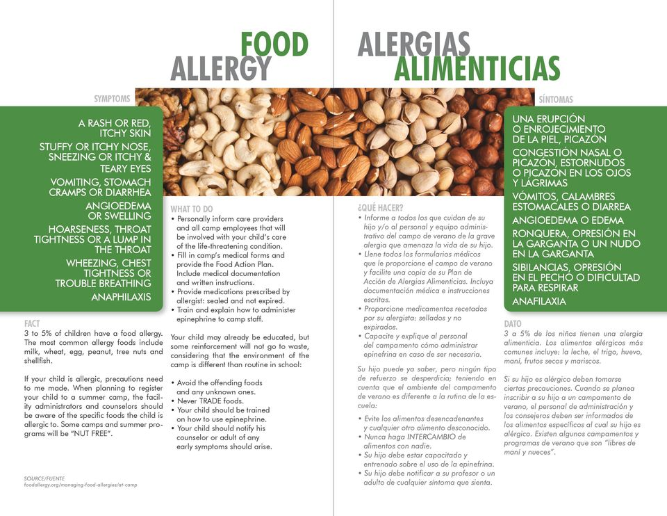 The most common allergy foods include milk, wheat, egg, peanut, tree nuts and shellfish. If your child is allergic, precautions need to me made.