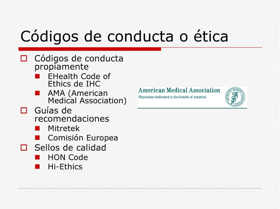 (American Medical Association) Guías de