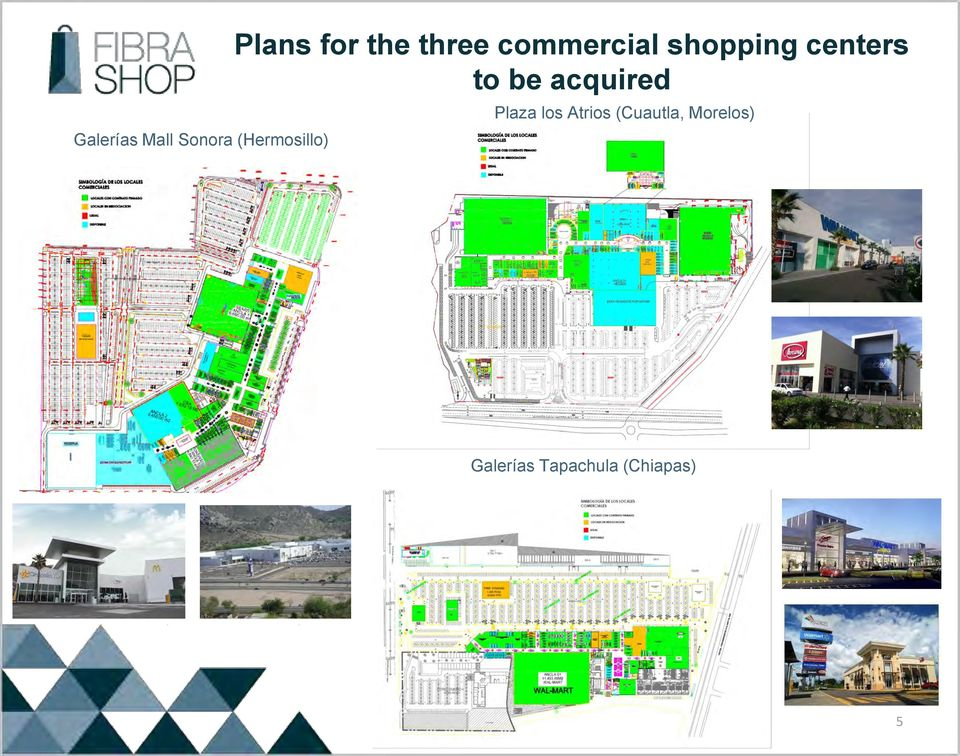 centers to be acquired Plaza los Atrios