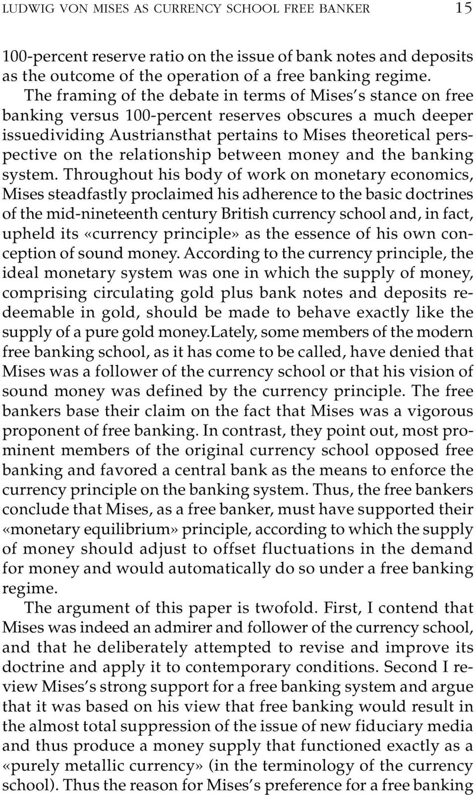 relationship between money and the banking system.