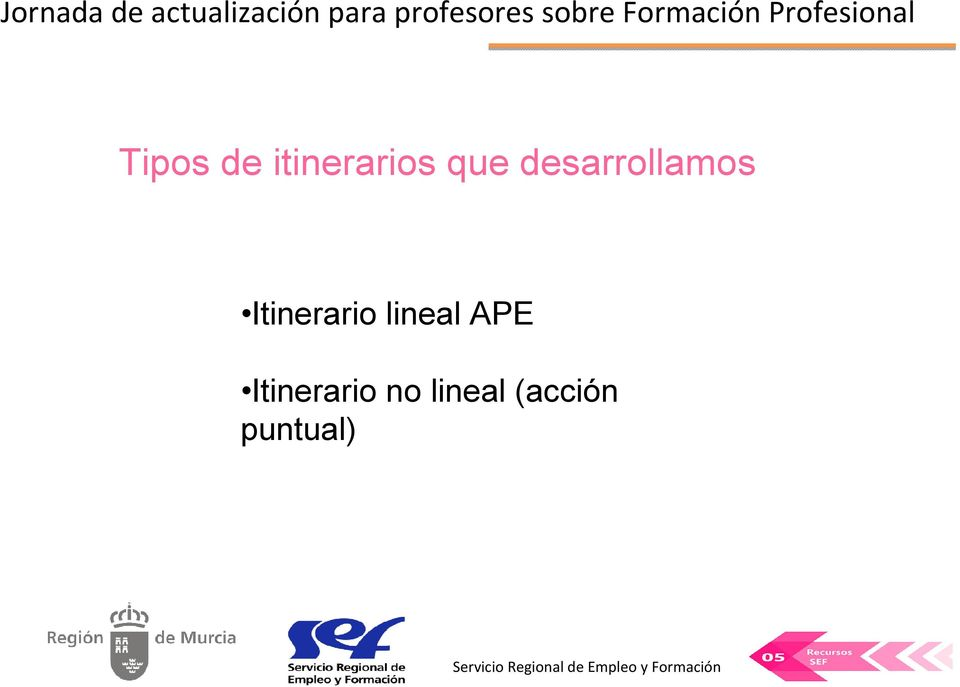 lineal APE Itinerario no