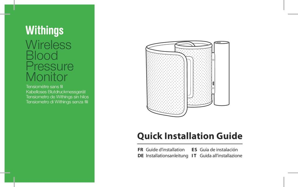 Withings senza fili Quick Installation Guide FR Guide d installation