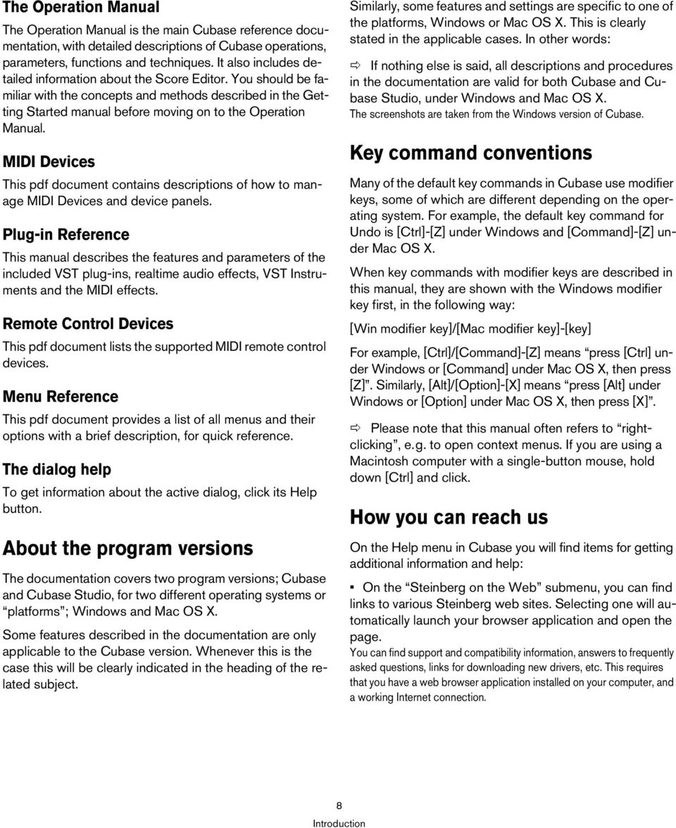 MIDI Devices This pdf document contains descriptions of how to manage MIDI Devices and device panels.