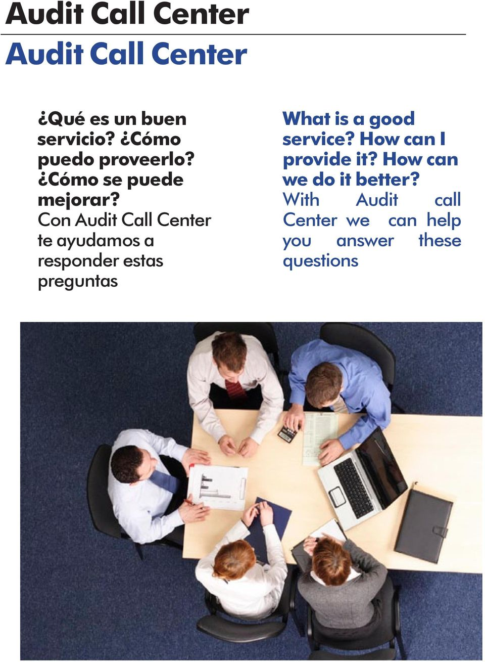 Con Audit Call Center te ayudamos a responder estas preguntas What is a
