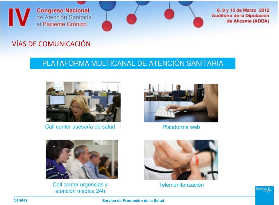 de salud Plataforma web Call center