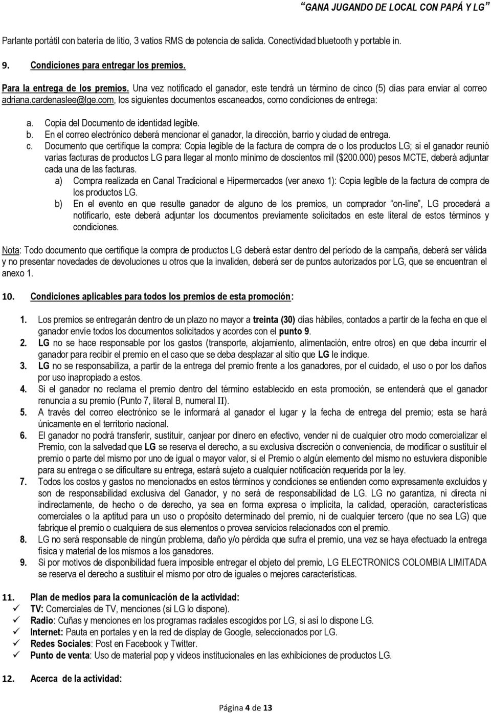 Copia del Documento de identidad legible. b. En el co