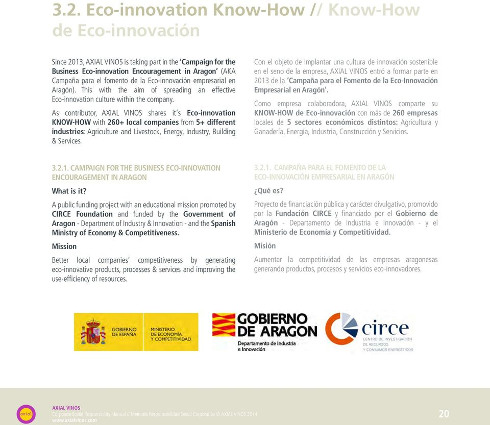 As contributor, shares it s Eco-innovation KNOW-HOW with 260+ local companies from 5+ different industries: Agriculture and Livestock, Energy, Industry, Building & Services.