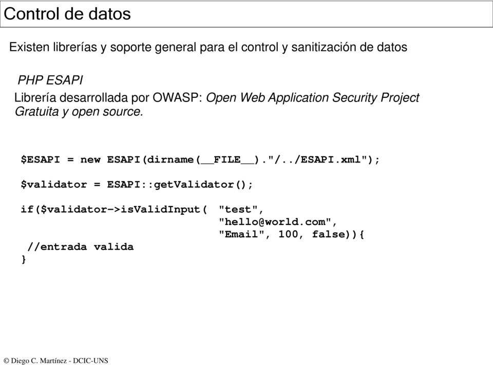 "open source. $ESAPI = new ESAPI(dirname( FILE ).""/../ESAPI."