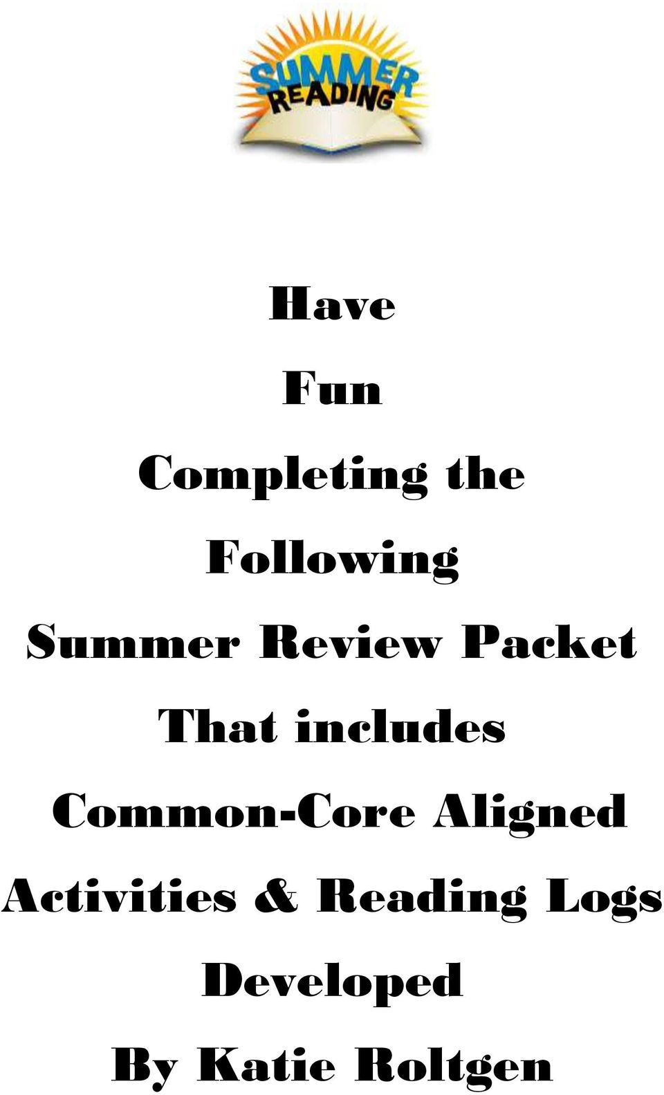 Common-Core Aligned Activities &