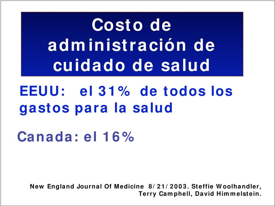 el 16% New England Journal Of Medicine 8/21/2003.