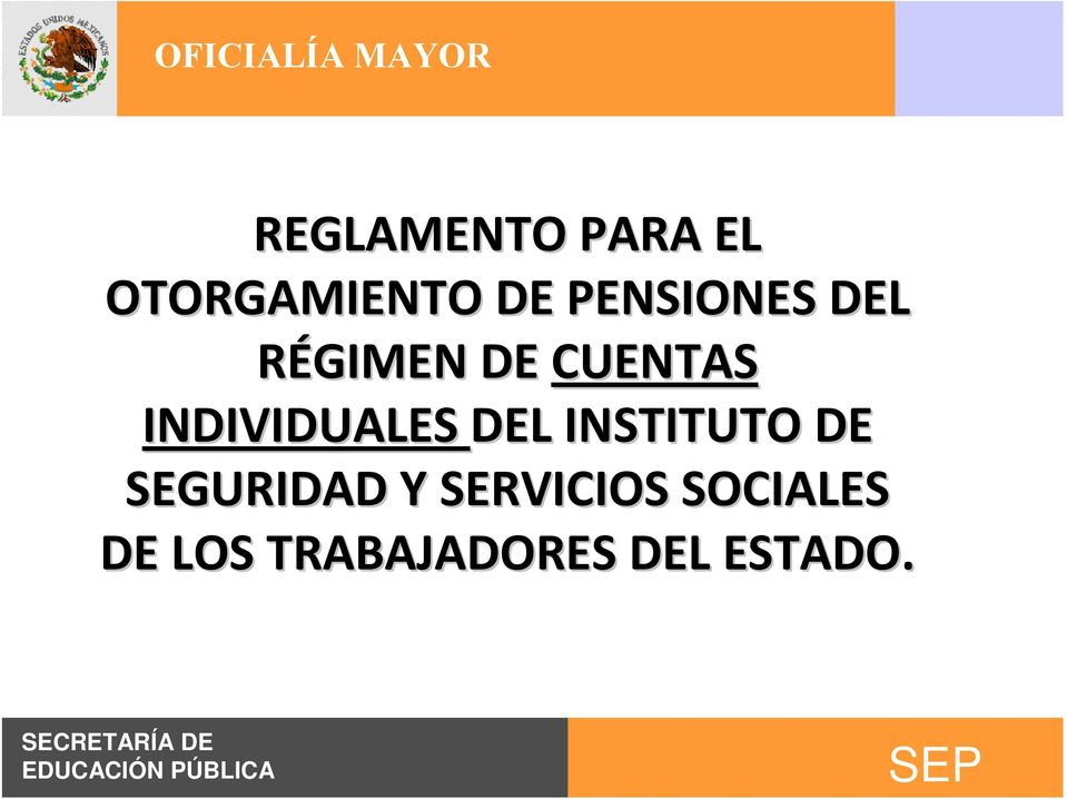 INDIVIDUALES DEL INSTITUTO DE SEGURIDAD
