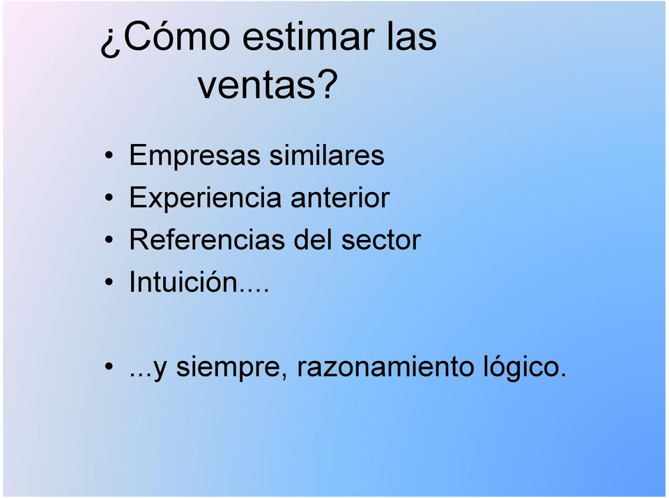 anterior Referencias del sector