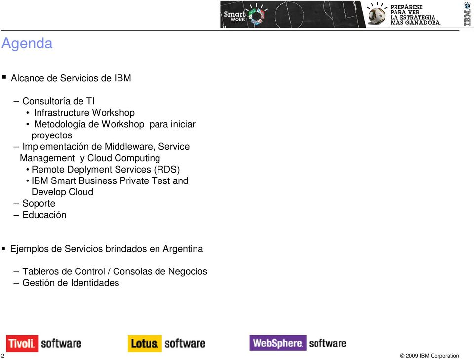 Deplyment Services (RDS) IBM Smart Business Private Test and Develop Cloud Soporte Educación