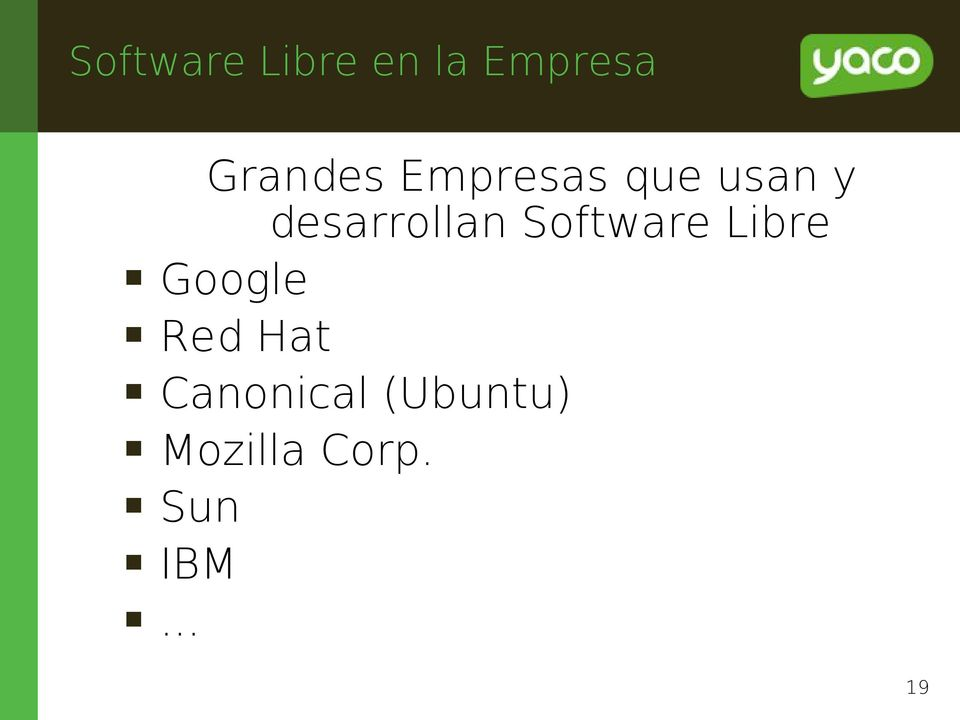 Software Libre Google Red Hat