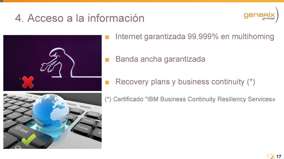 garantizada Recovery plans y business continuity