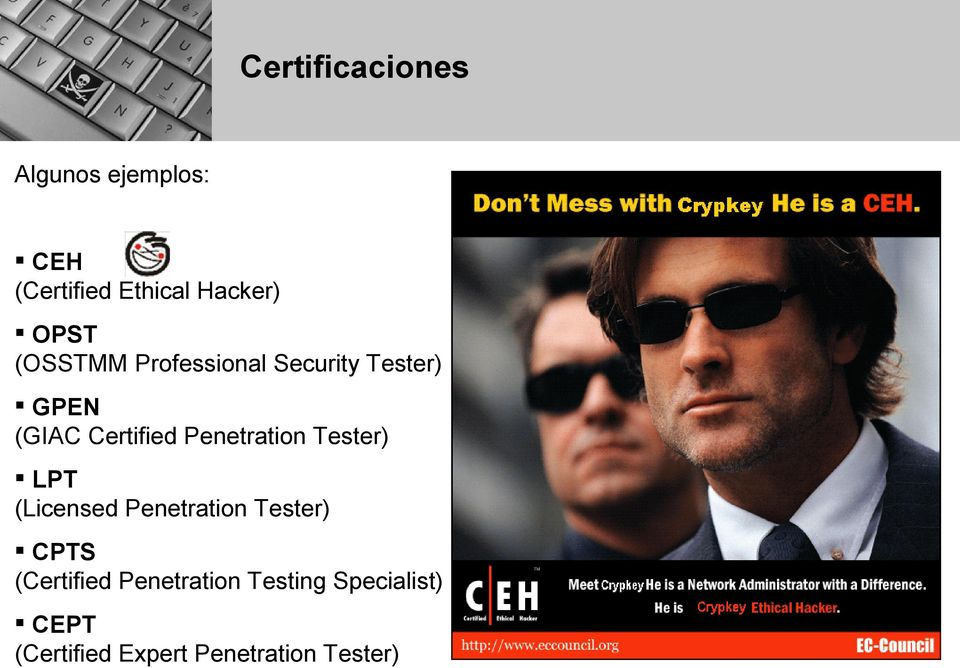 Penetration Tester) LPT (Licensed Penetration Tester) CPTS