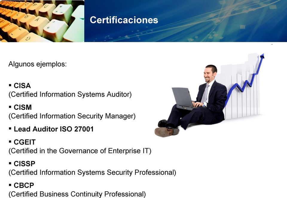 CGEIT (Certified in the Governance of Enterprise IT) CISSP (Certified