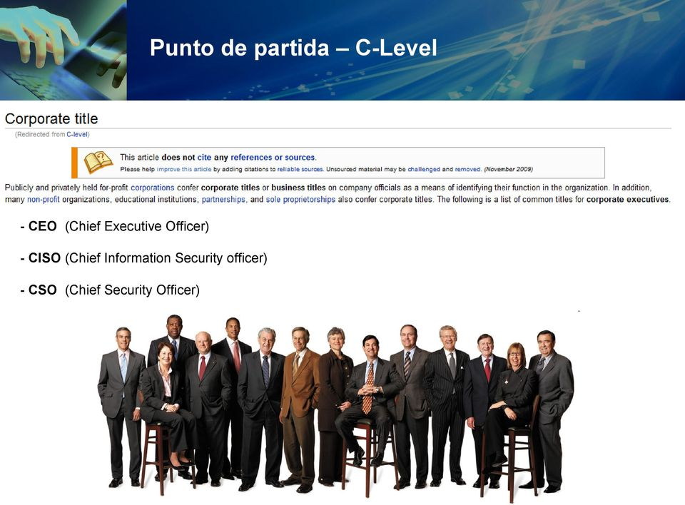 (Chief Information Security