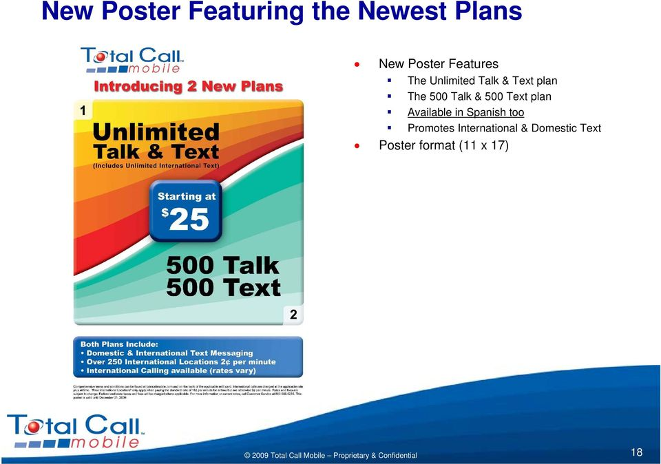 Talk & 500 Text plan Available in Spanish too
