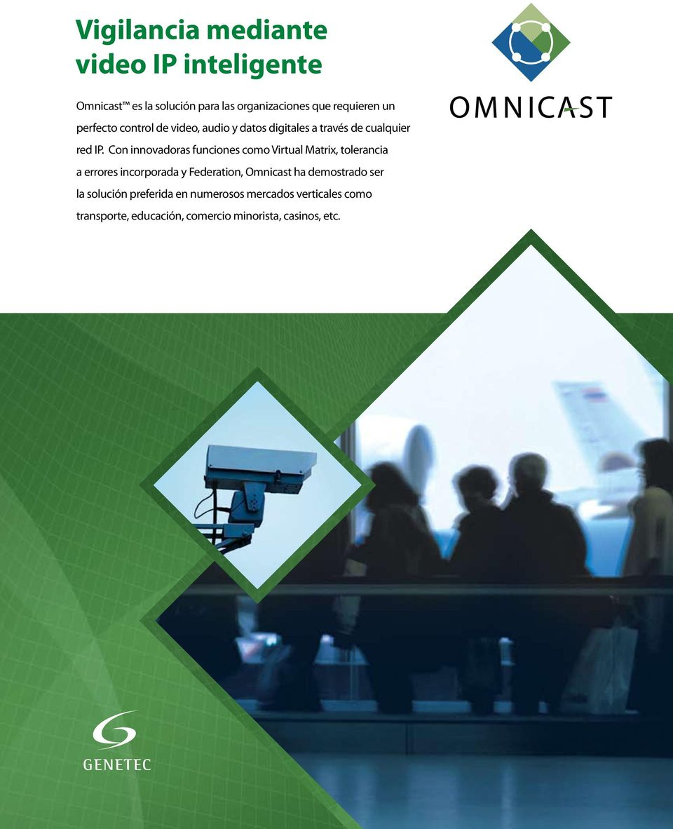 Con innovadoras funciones como Virtual Matrix, tolerancia a errores incorporada y Federation, Omnicast ha