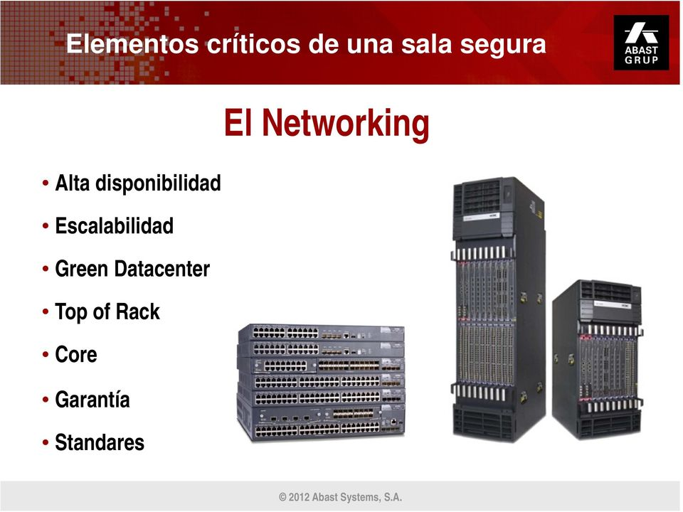 Escalabilidad Green Datacenter Top of