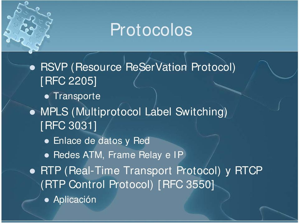 Enlace de datos y Red Redes ATM, Frame Relay e IP RTP