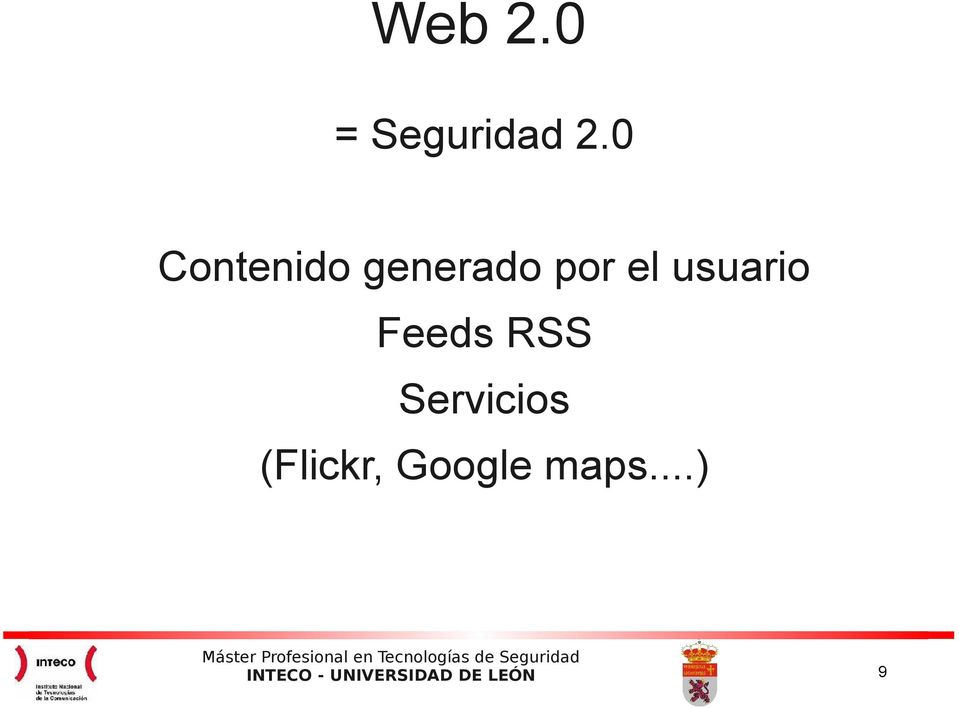 el usuario Feeds RSS