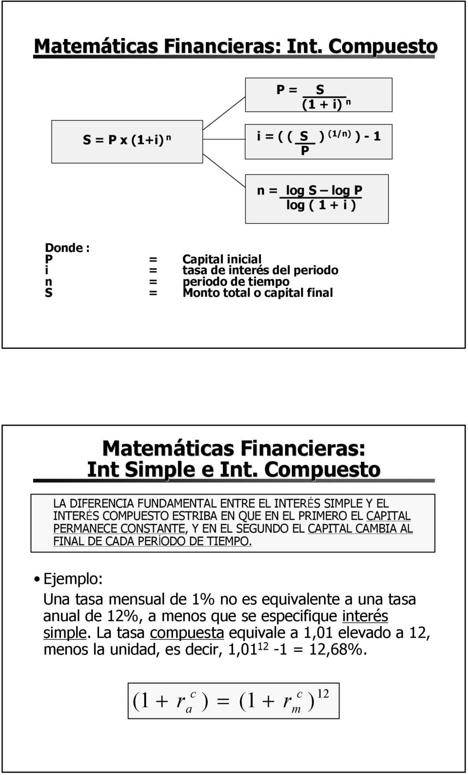 fial Matemáticas Fiacieras: It Simple e It.