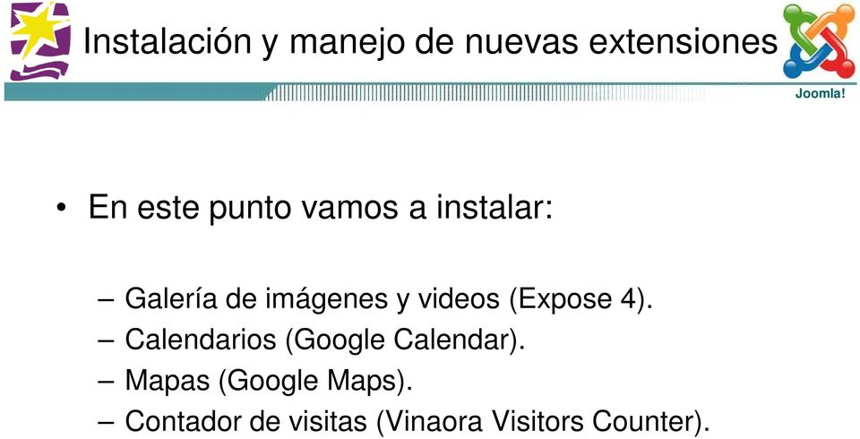 (Expose 4). Calendarios (Google Calendar).