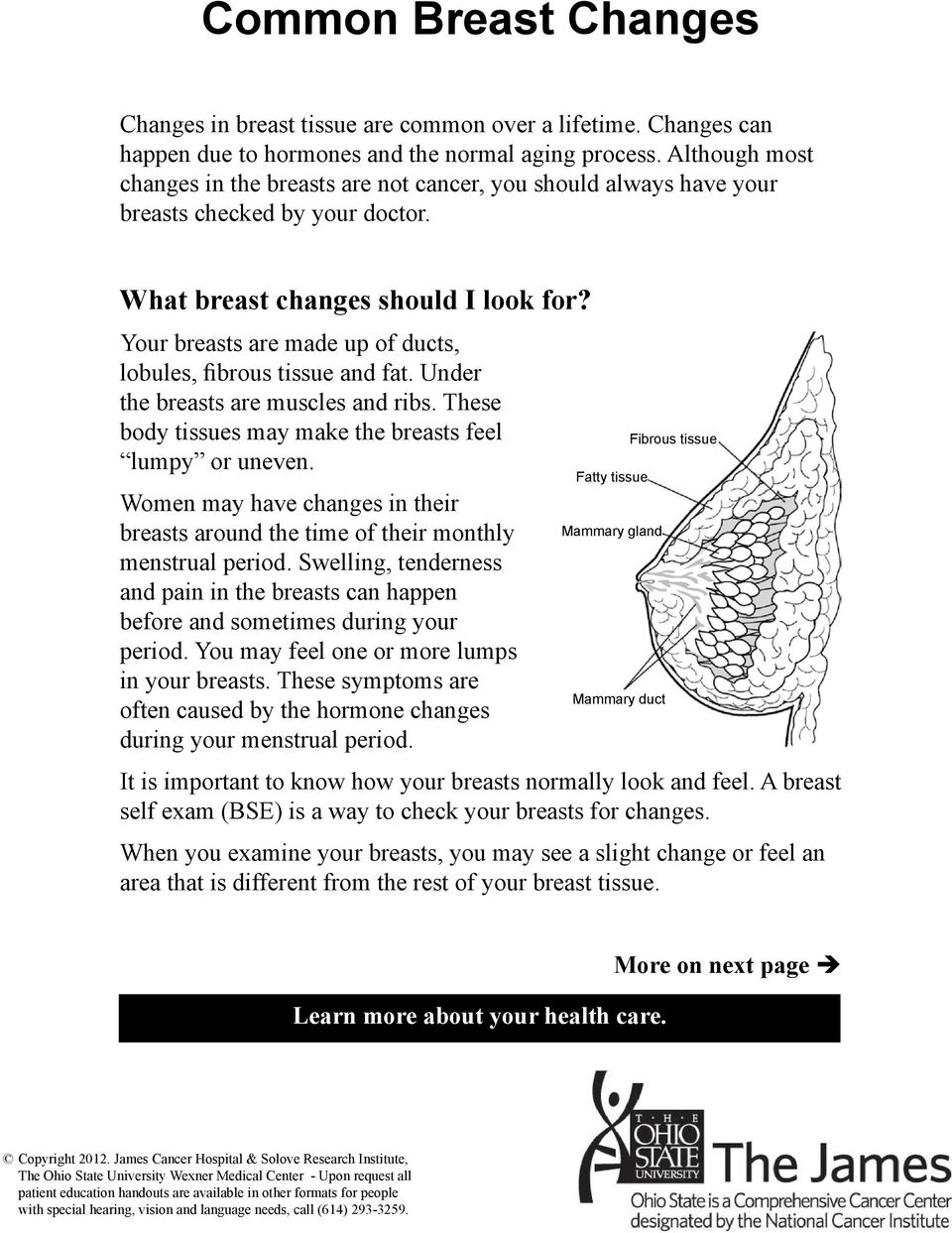Your breasts are made up of ducts, lobules, fibrous tissue and fat. Under the breasts are muscles and ribs. These body tissues may make the breasts feel lumpy or uneven.