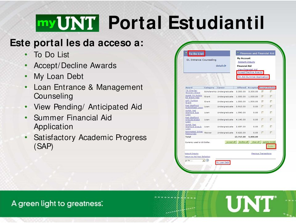 View Pending/ Anticipated Aid Summer Financial Aid
