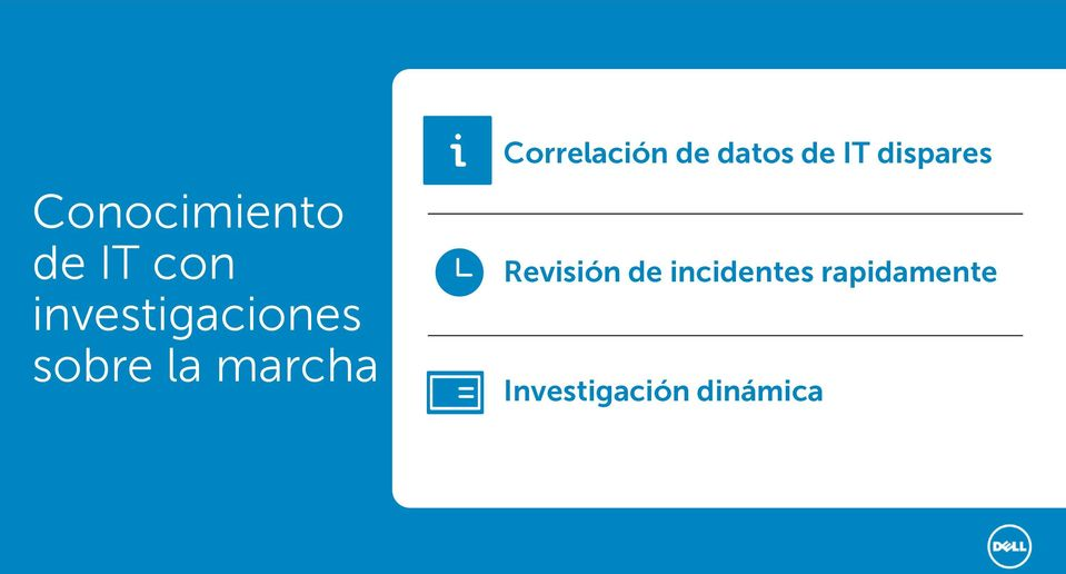 Correlación de datos de IT dispares
