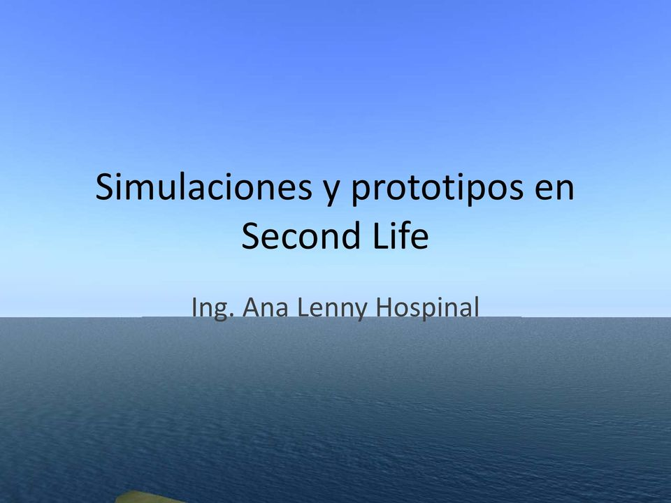 Second Life Ing.