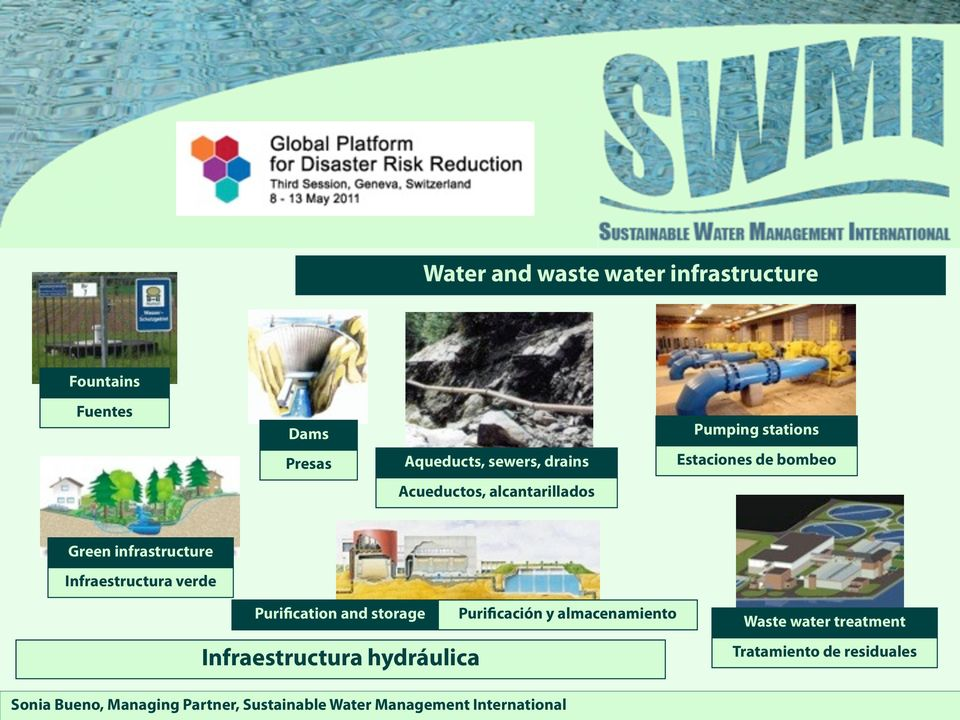 Green infrastructure Infraestructura verde Purification and storage