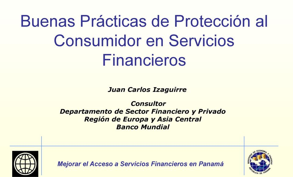 Consultor Departamento de Sector Financiero y