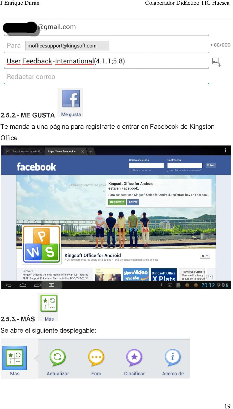 Facebook de Kingston Office. 2.5.3.