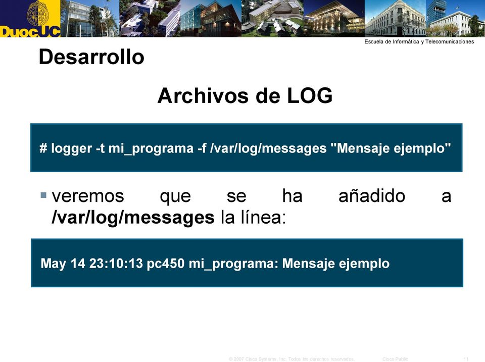 que se ha añadido a /var/log/messages la