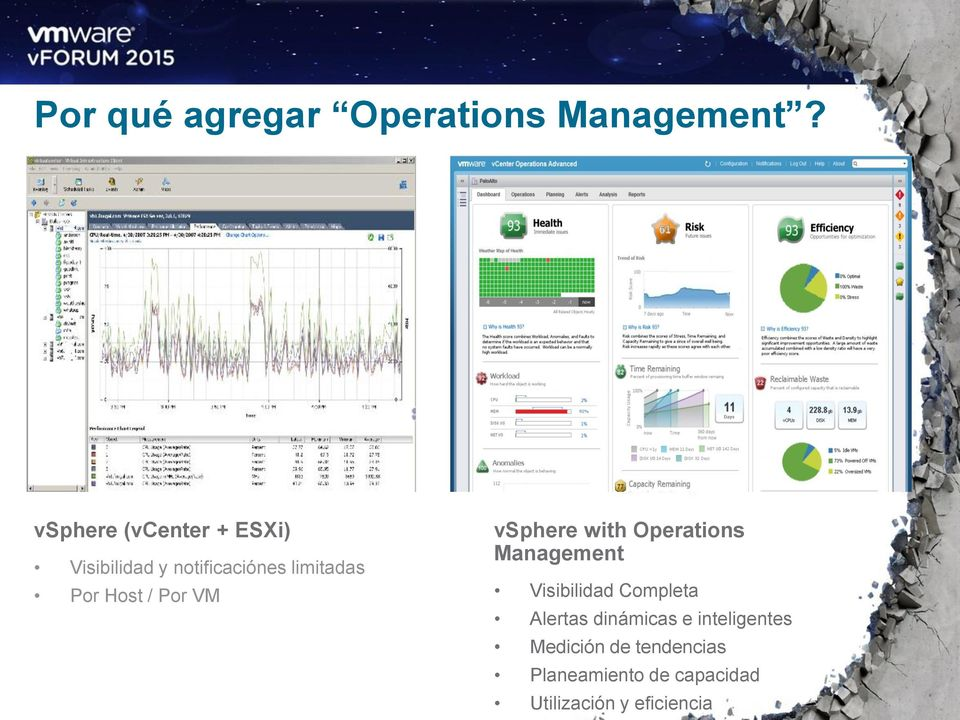 Host / Por VM vsphere with Operations Management Visibilidad Completa