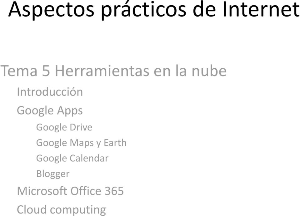 Apps Google Drive Google Maps y Earth Google
