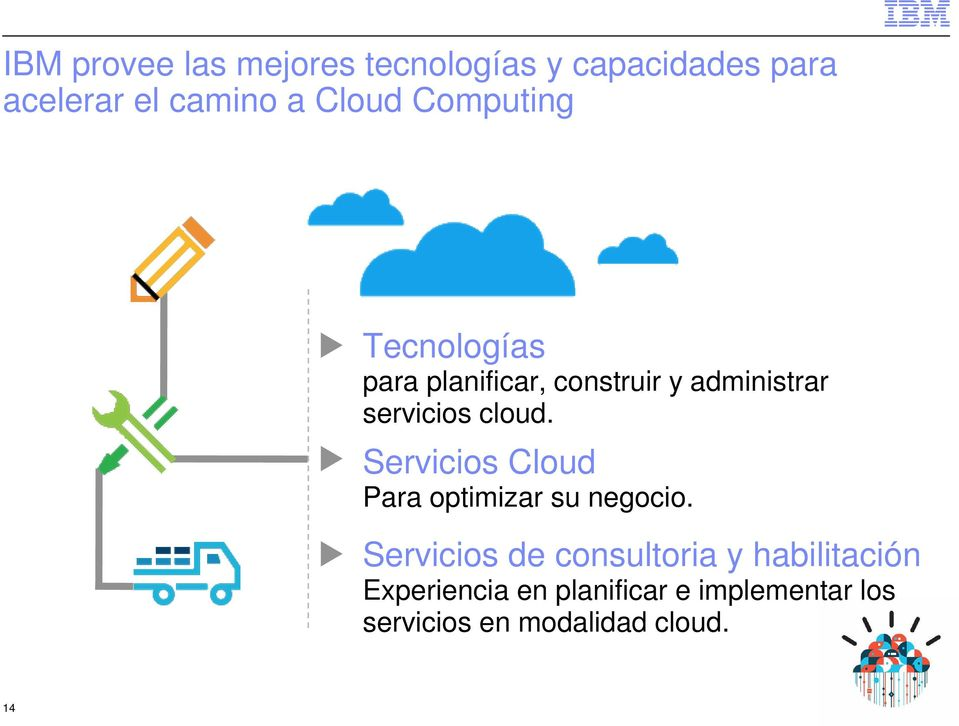 cloud. Servicios Cloud Para optimizar su negocio.