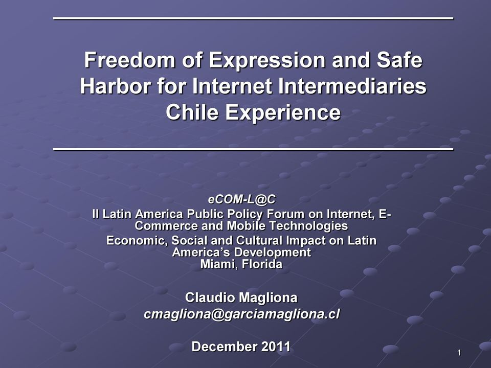 Commerce and Mobile Technologies Economic, Social and Cultural Impact on Latin