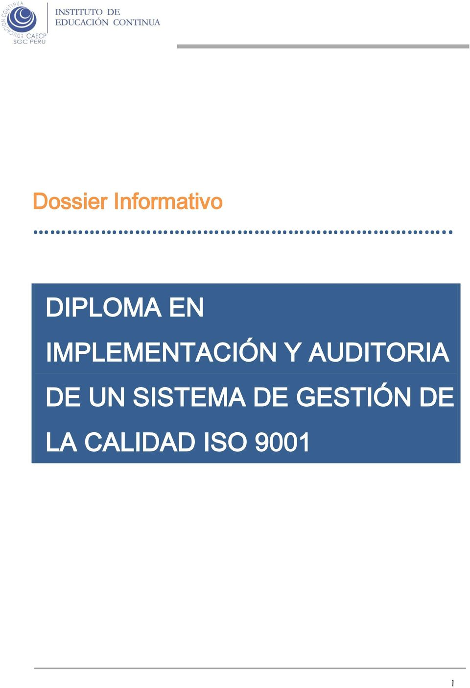 IMPLEMENTACIÓN Y AUDITORIA DE