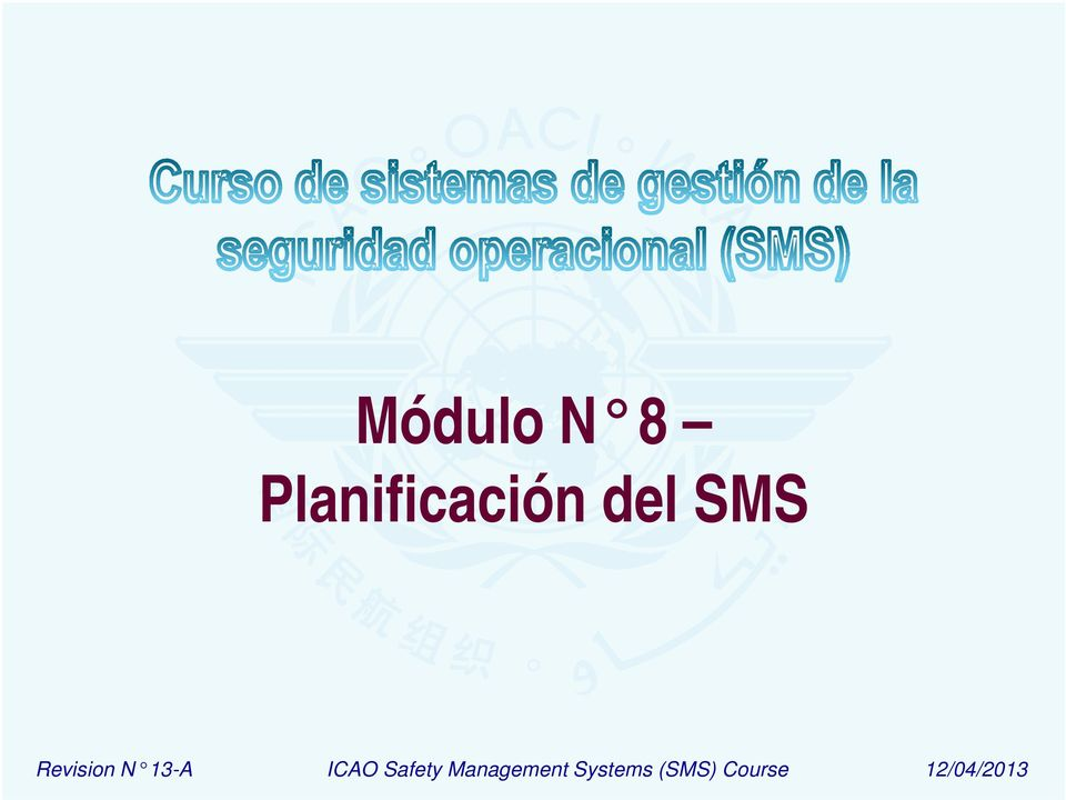ICAO Safety Management