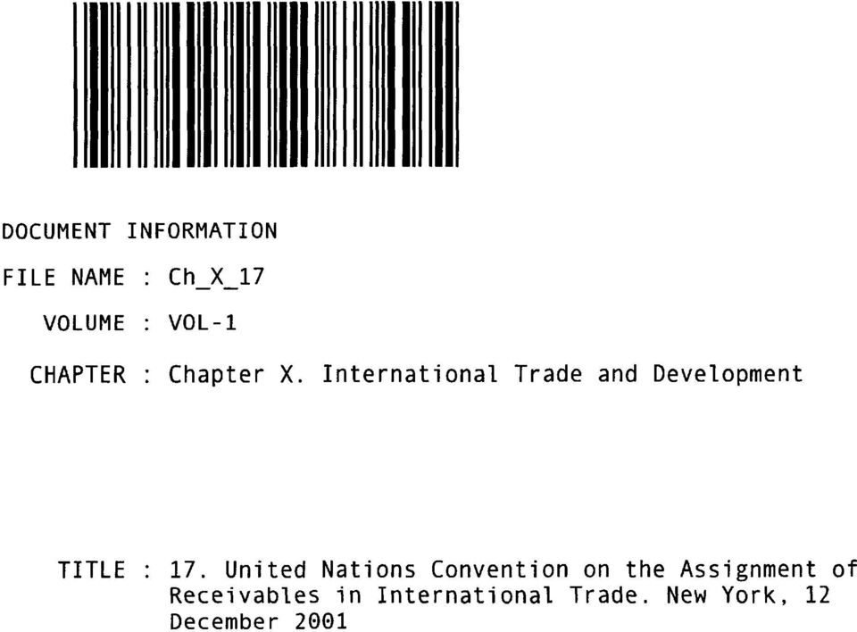 International Trade and Development TITLE 17.