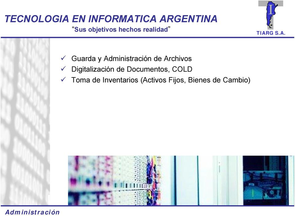 Documentos, COLD Toma de