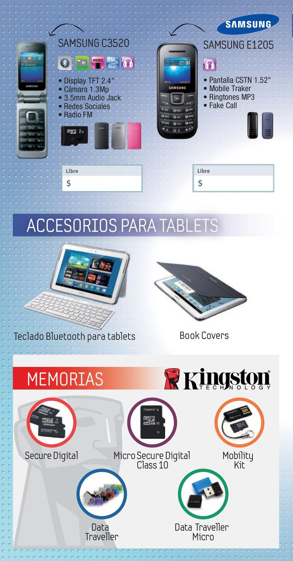 "52"" Mobile Traker Ringtones MP3 Fake Call ACCESORIOS PARA TABLETS Teclado"