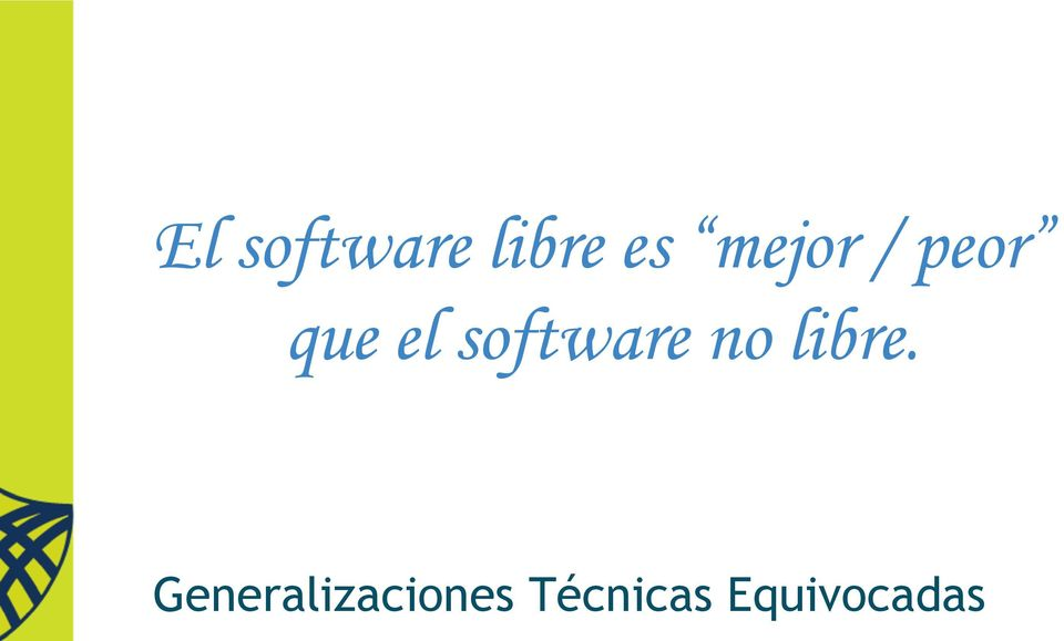 software no libre.